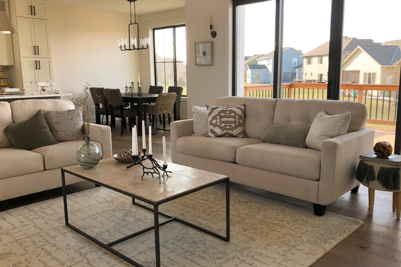 The Eleanor Custom Home - sofa in hall.