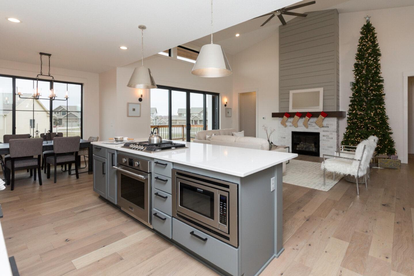 The Eleanor Custom Home - kitchen island.