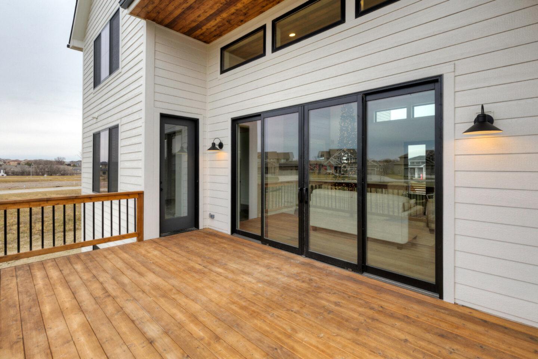 The Eleanor Custom Home - deck.