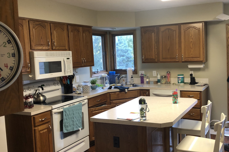 West Des Moines Kitchen Before Transformation.