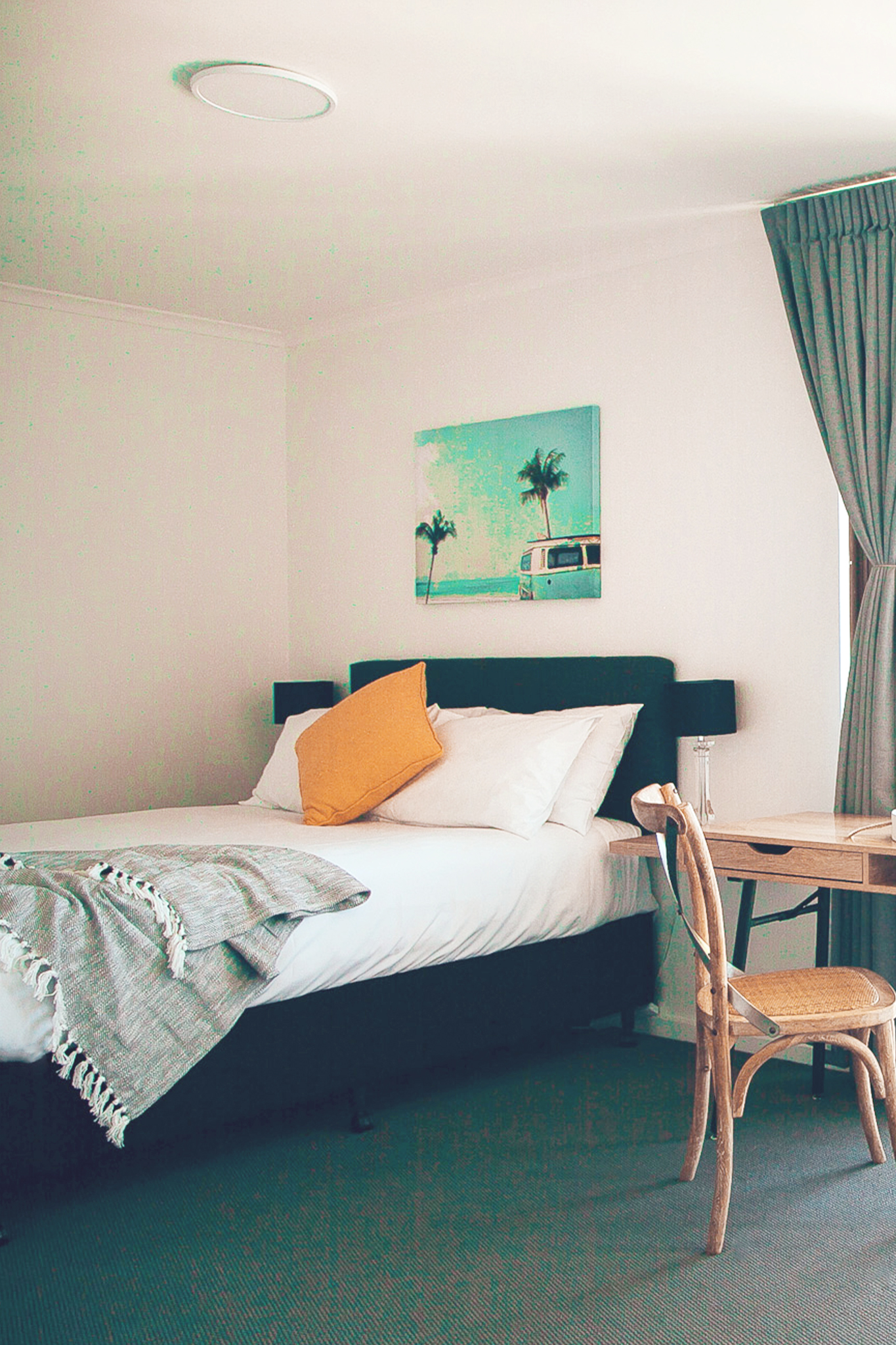 Large comfortable air-conditioned room with private balcony.