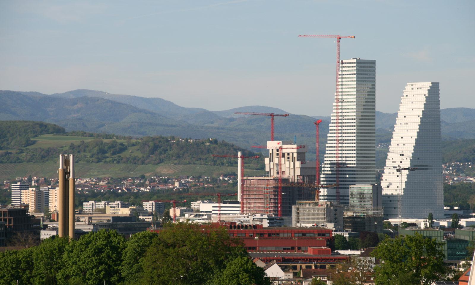Aussicht auf Basel; Rochetürme