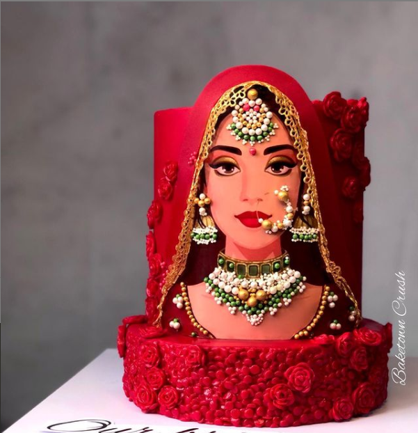 Unique bridal cake that is setting a new trend