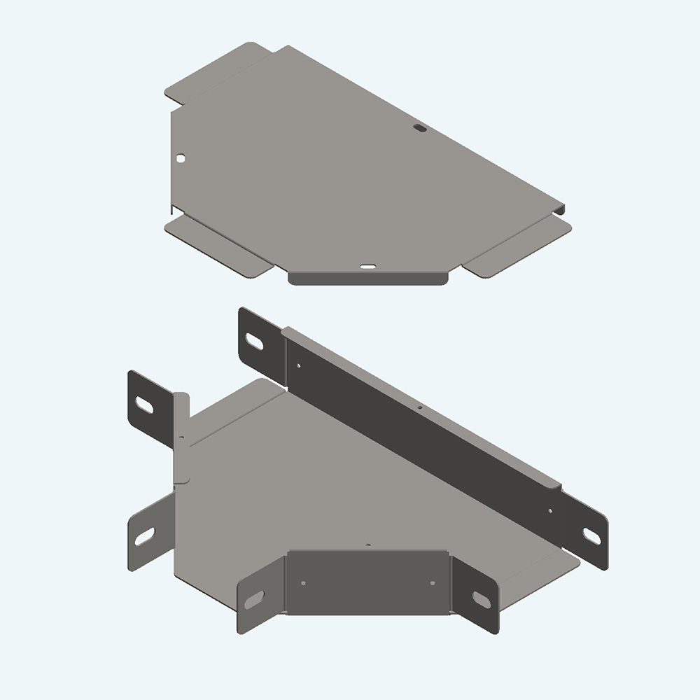 Trunking Horizontal Tee + Cover