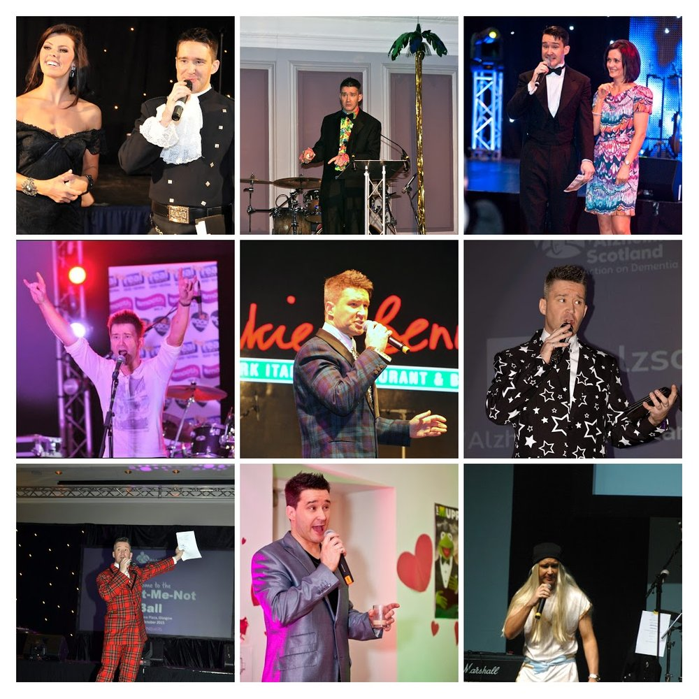 Montage of nine images of Steve McKenna hosting and presenting at events