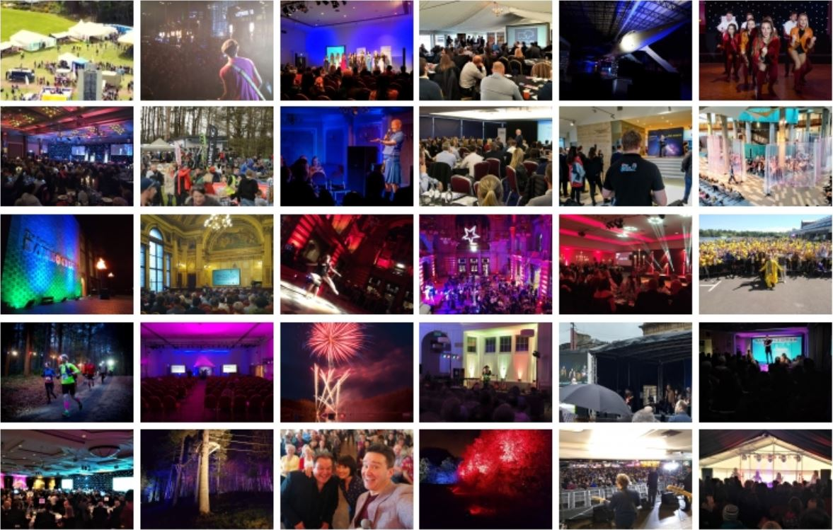 Montage of thirty different events undertaken by McKenna Media Group