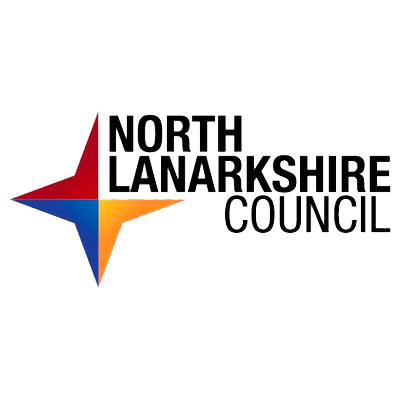 Logo for North Lanarkshire Council, clients of McKenna Media Group