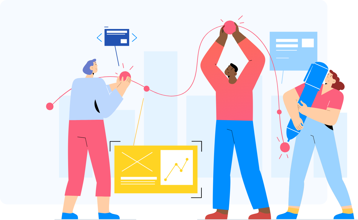 Connect employees illustration