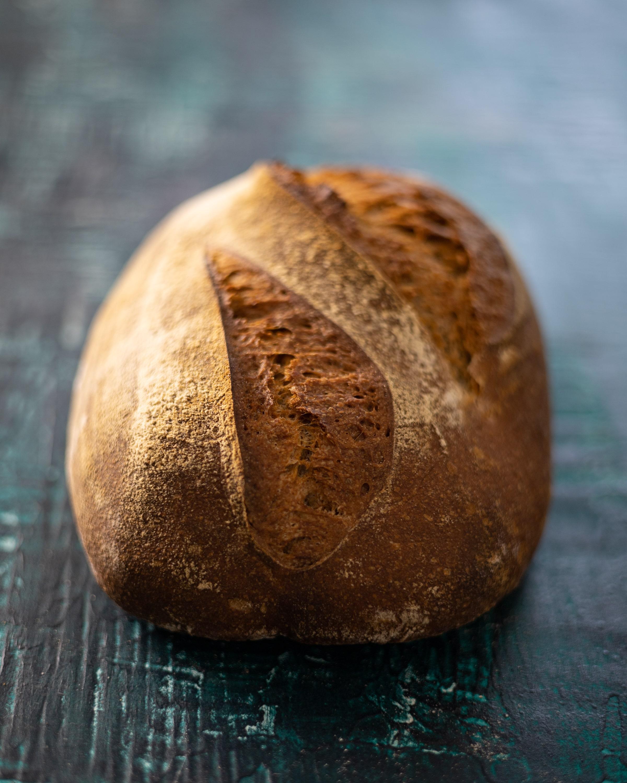 A batard sourdough loaf