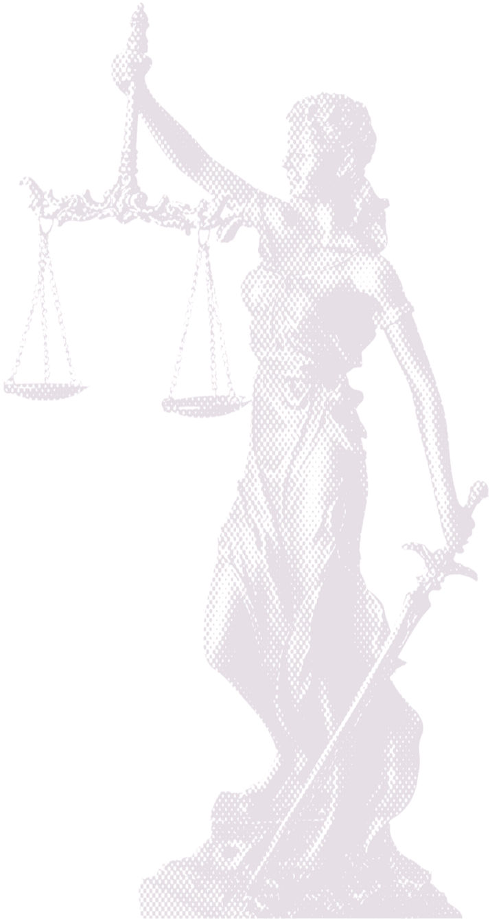 Lady Justice in purple dots