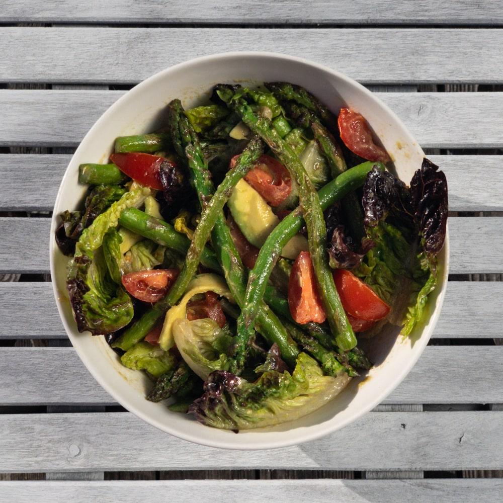 Avocado & Asparagus Miso Salad