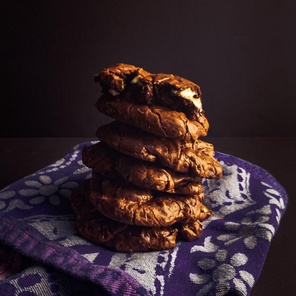 Utterly Indulgent Triple Chocolate Cookies