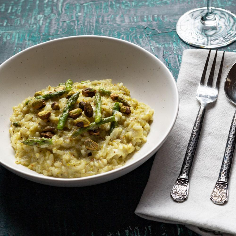 Asparagus & Pistachio Risotto