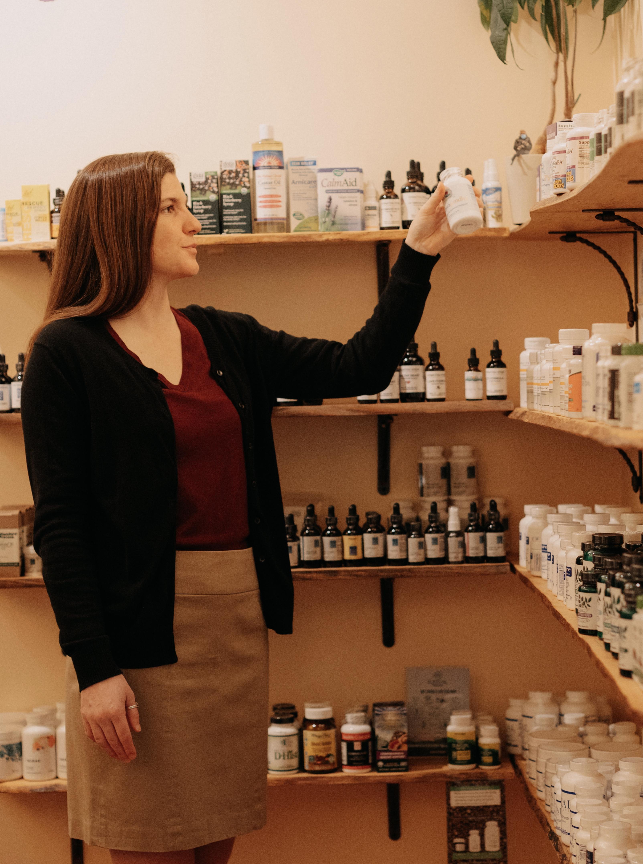 Apothecary shelf