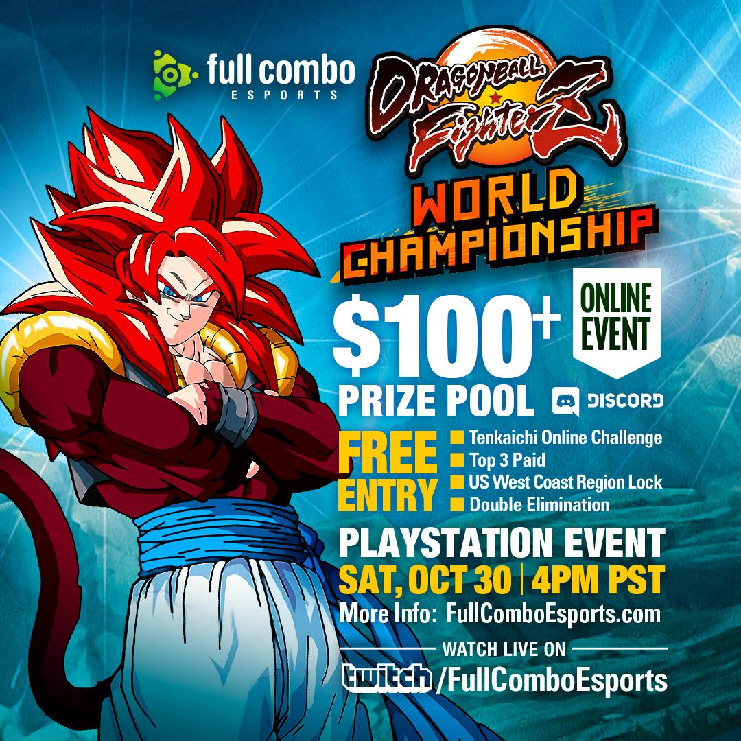 Dragon Ball FighterZ Tenkaichi Online Qualifier World Championship Playstation Tournament Event, October 30, 2021