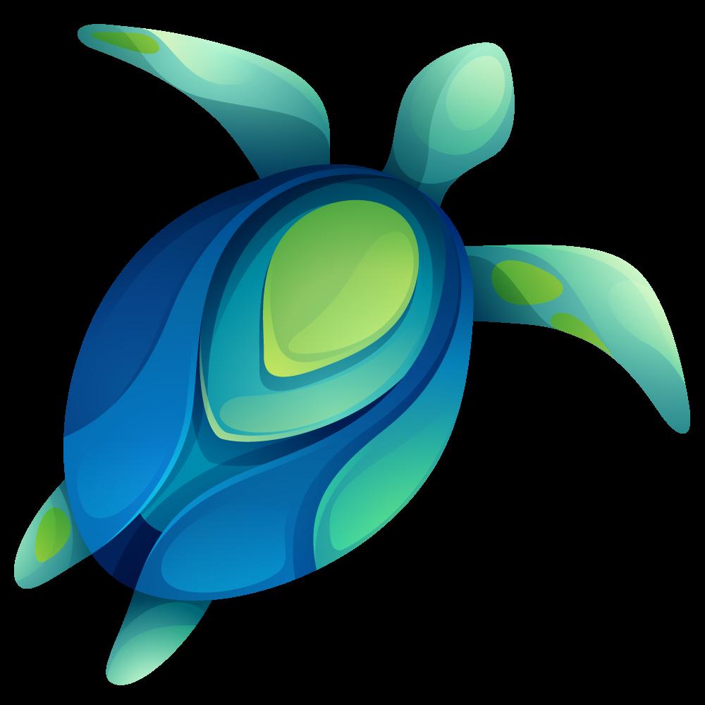 Turtle in the ocean.