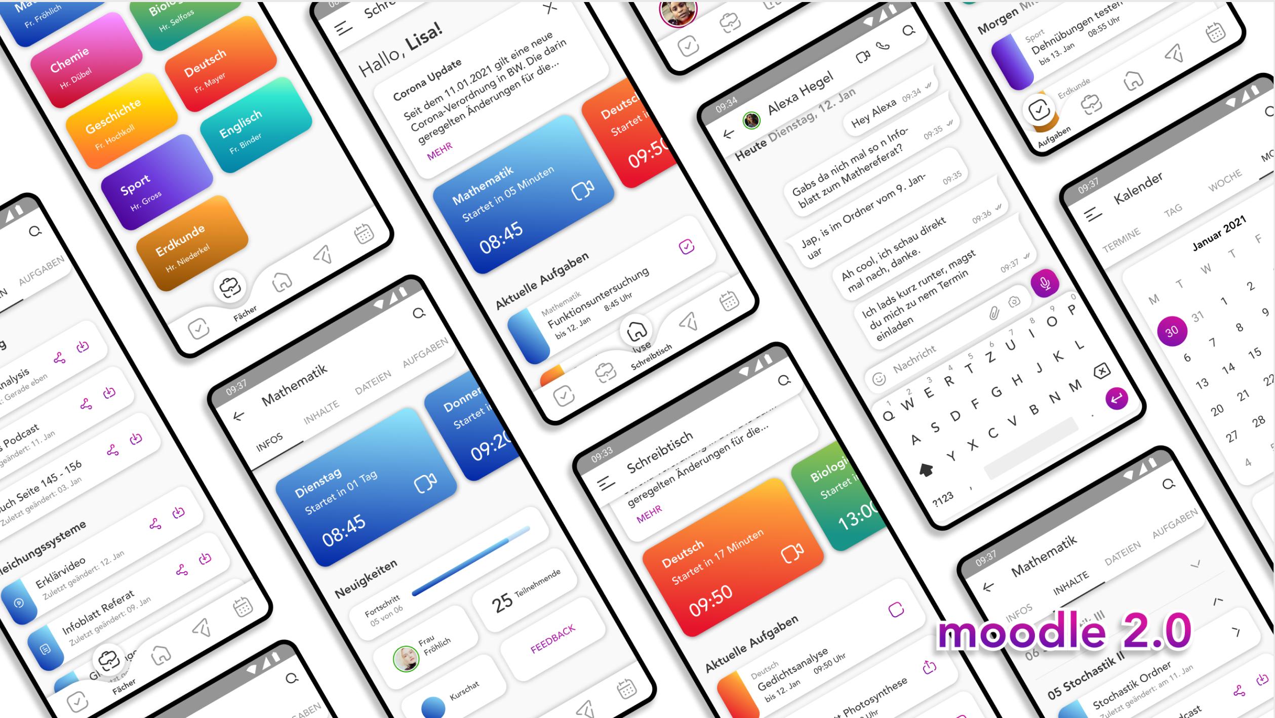 mockup of multiple app-screens
