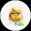 Female scientist emoji