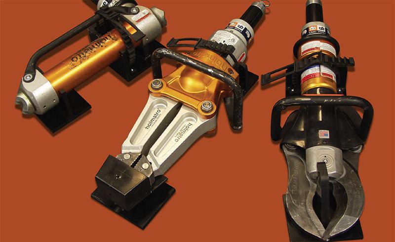 Tools with flash mounts on orange background