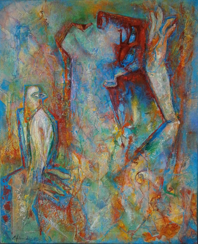 """Inspiration-Poetess"", Oil, Canvas, (60x50cm)"