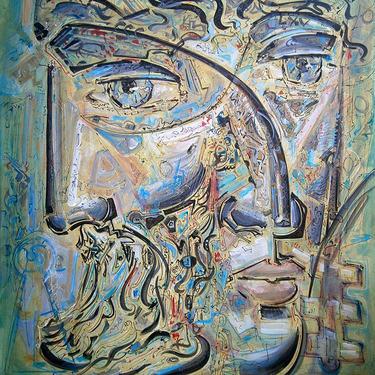 """Janus"", Acrylic, Canvas, (100х90cm)"