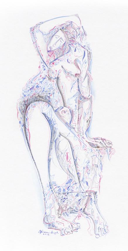 """""""Sappho"""", Ink, Paper, (42х31cm)"""