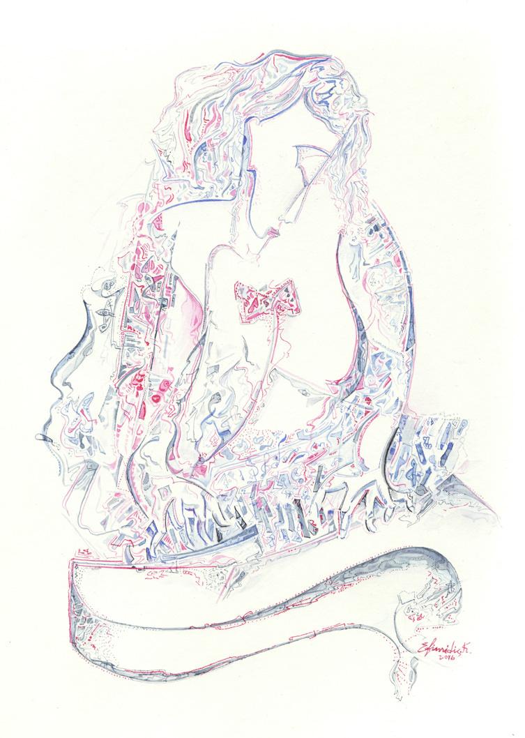 """Jazz"", Ink, Paper, (42х30cm)"