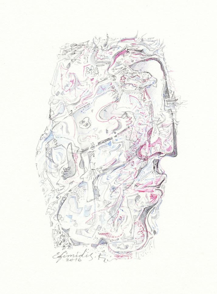 """On the island"", Ink, Paper (32х24cm)"