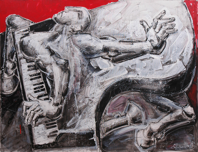 """Piano-Centaur"", acrylic, canvas, (90х120cm)"