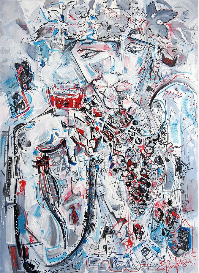 """Dionysus"", acrylic, canvas, (70х50cm)"