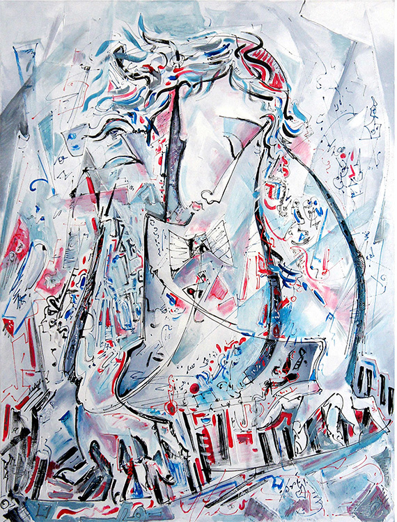 """Jazz"", Acrylic, Canvas, (80х60cm)"