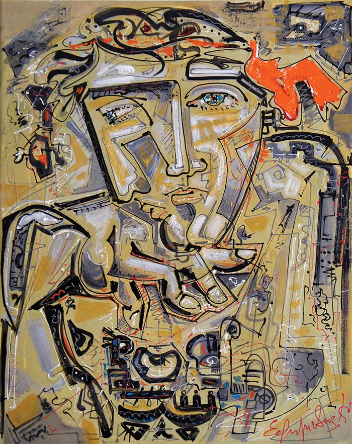 """philosopher"", acrylic, canvas, (50х40cm)"