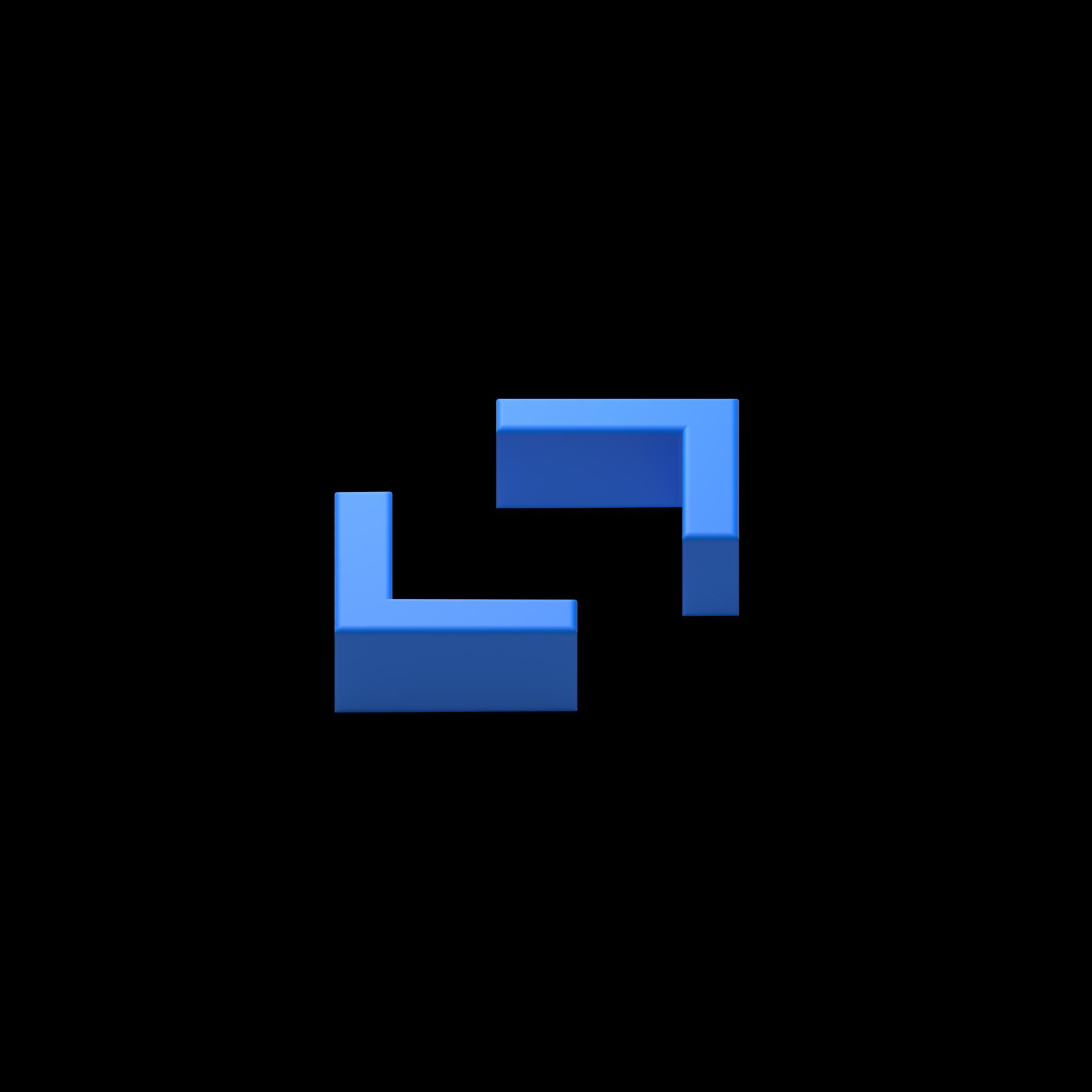 3D coding icon