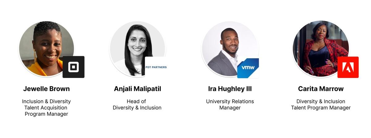 Headshots of our 4 panelists