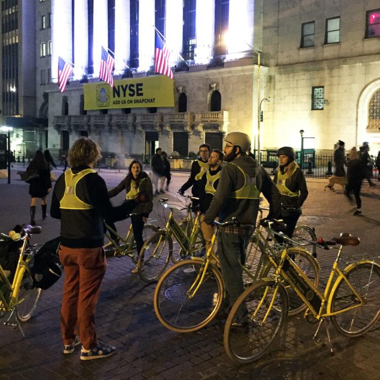 We took a bike tour of lower Manhattan.