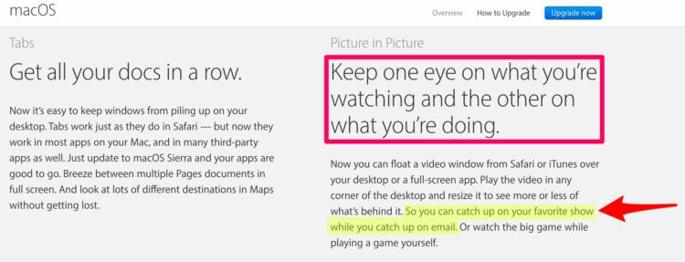macOS multitasking features