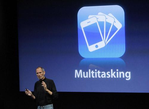 Steve Jobs announces multitasking