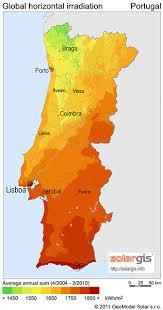 Solar Radiation Map of Portugal [OS] [316x600] : MapPorn