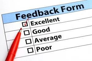 A feedback form.