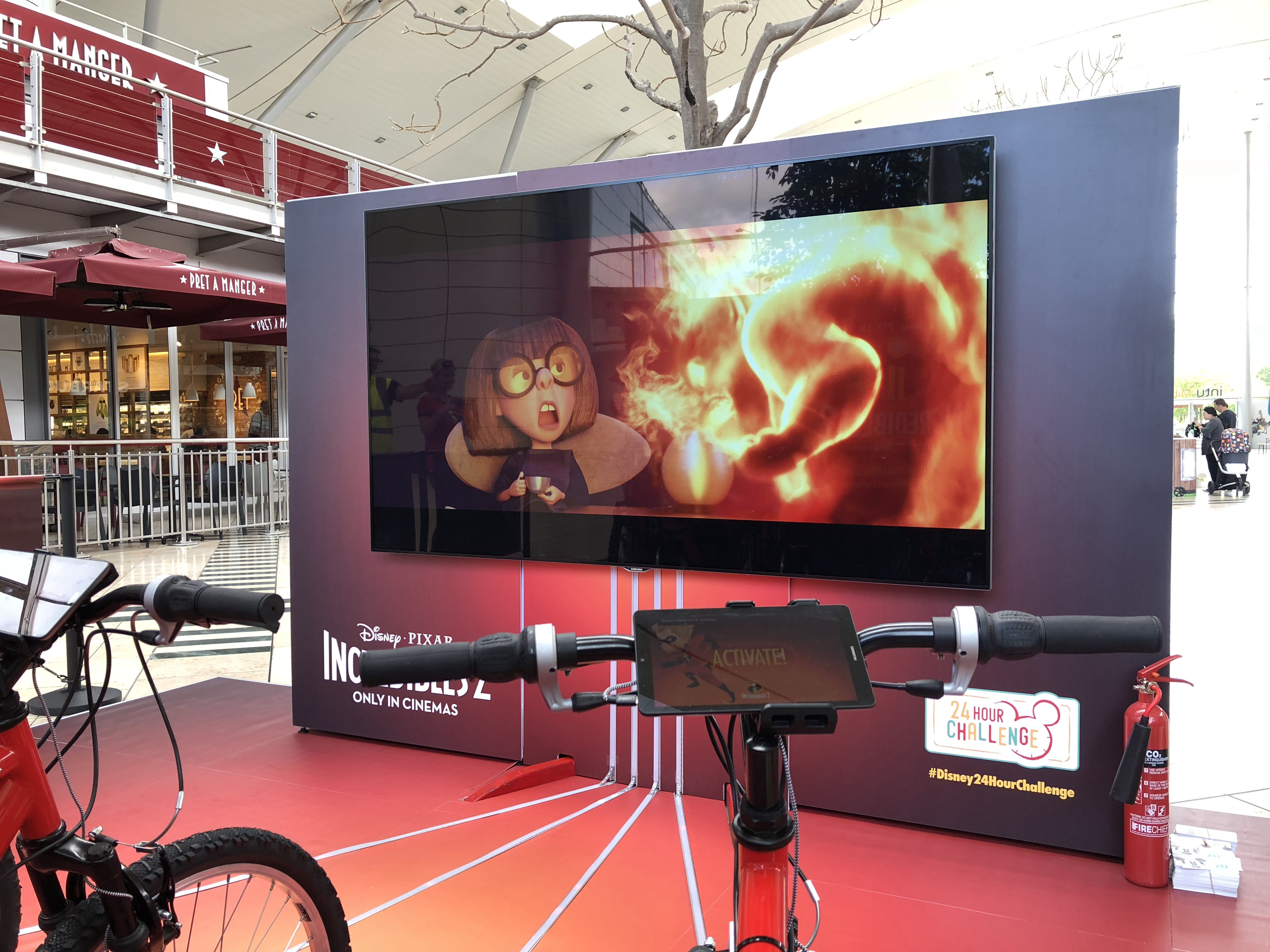 Installation Featuring Clips of The Incredibles 2