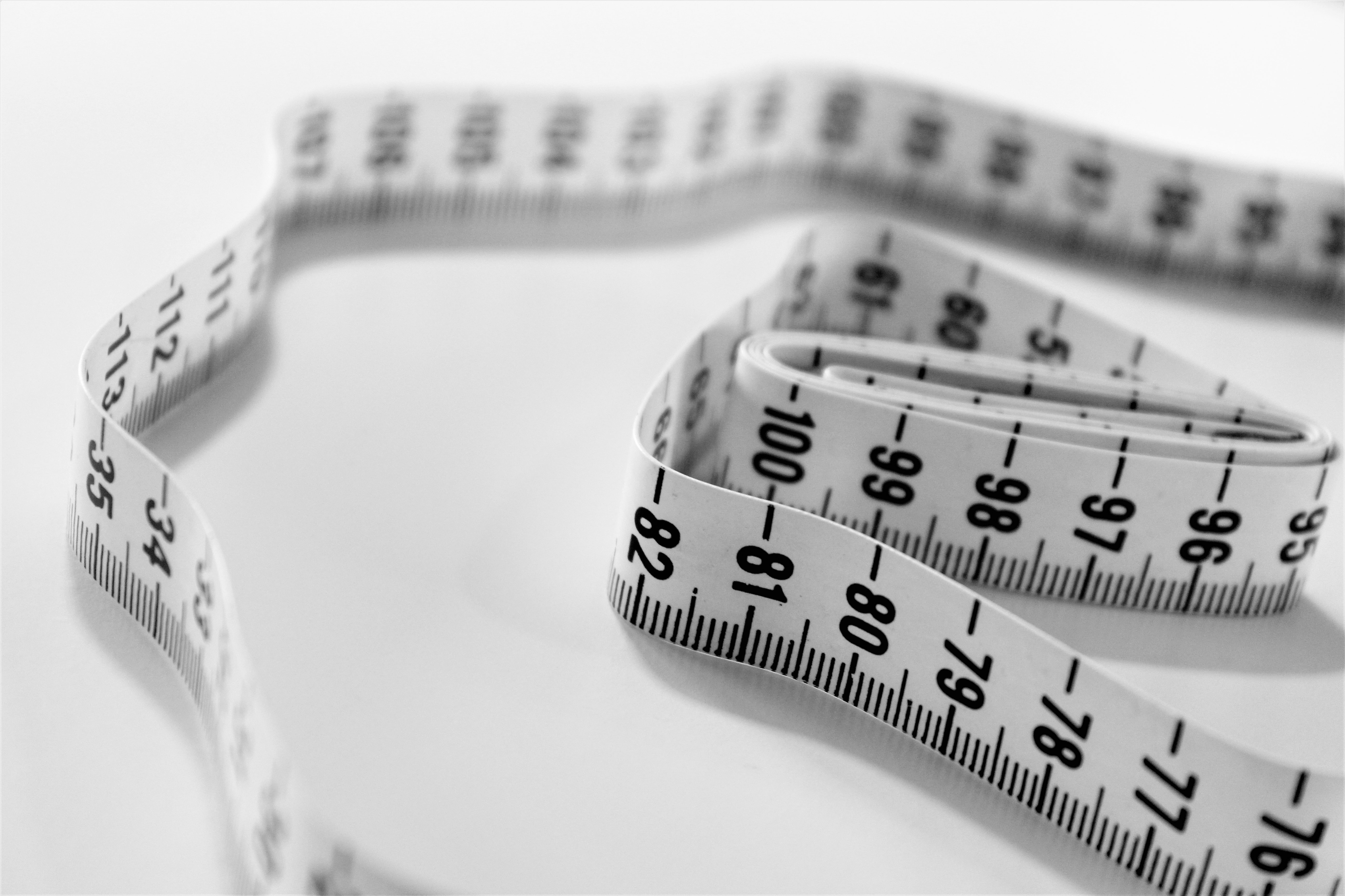 Measuring tape to measure weight loss.
