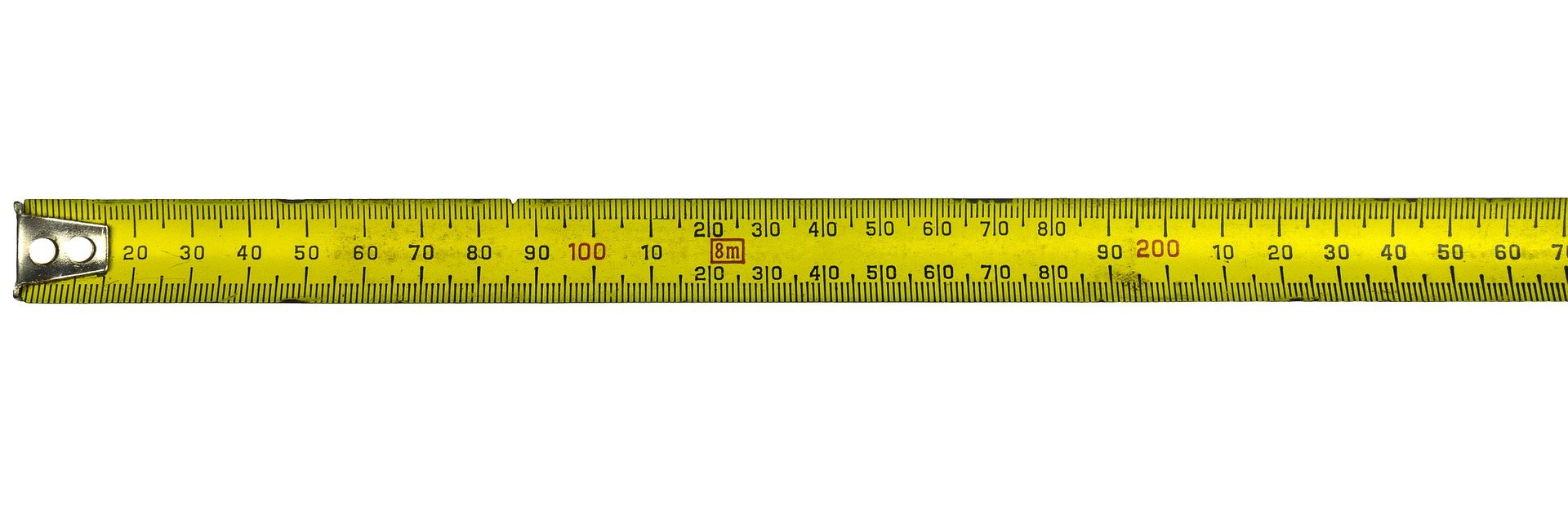 A yellow measuring tape.