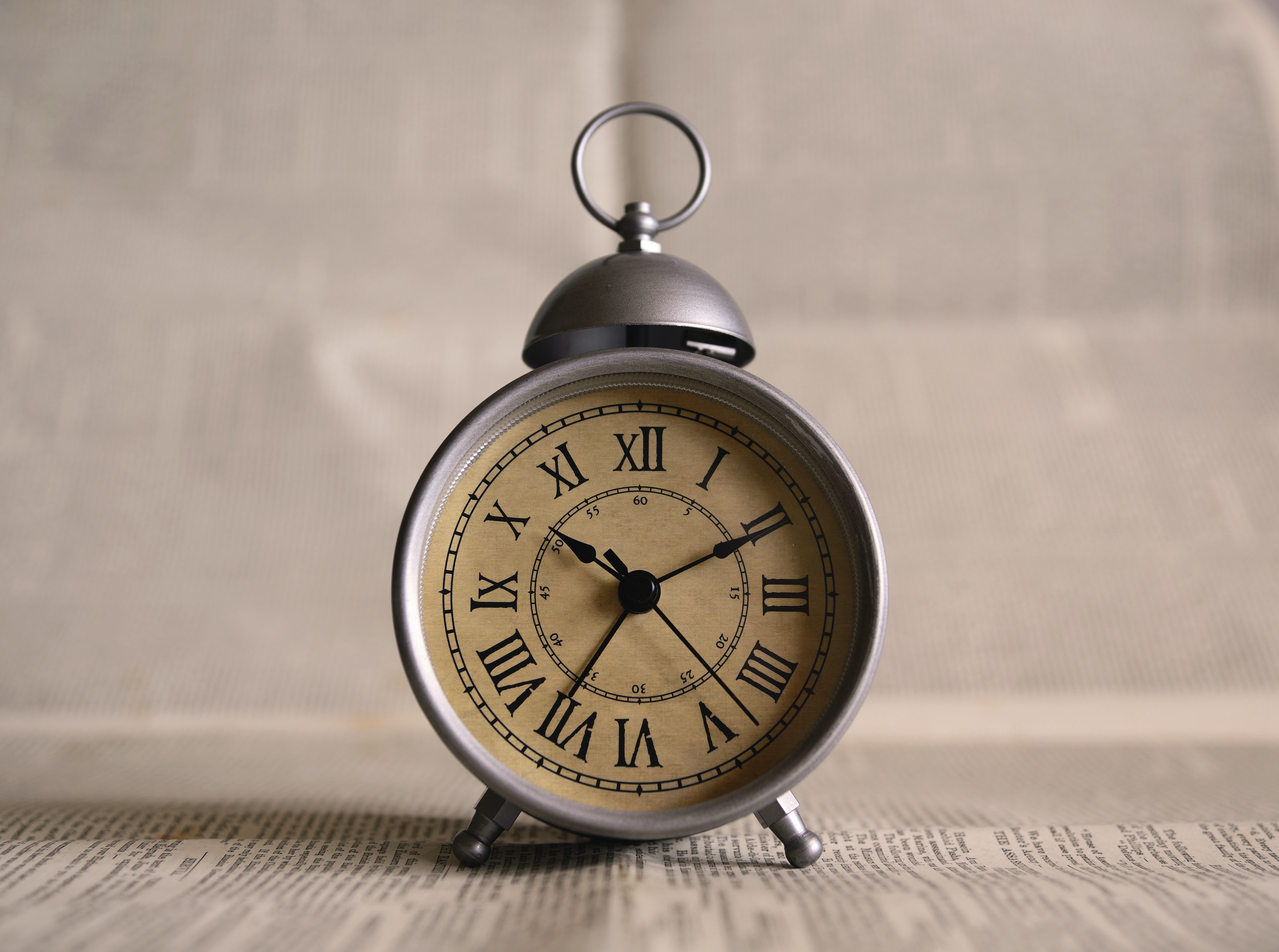 Old-style alarm clock.