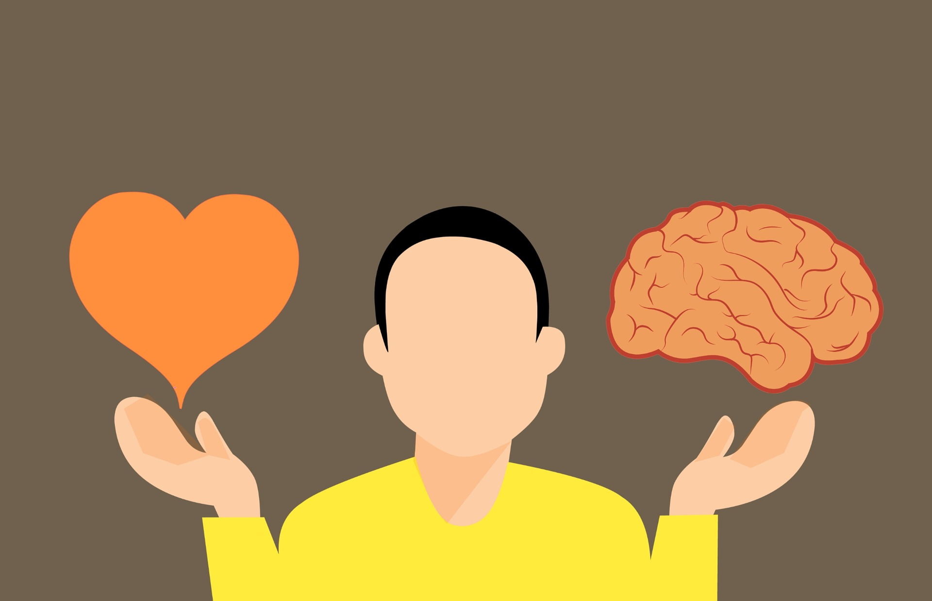Man with a heart and a brain.