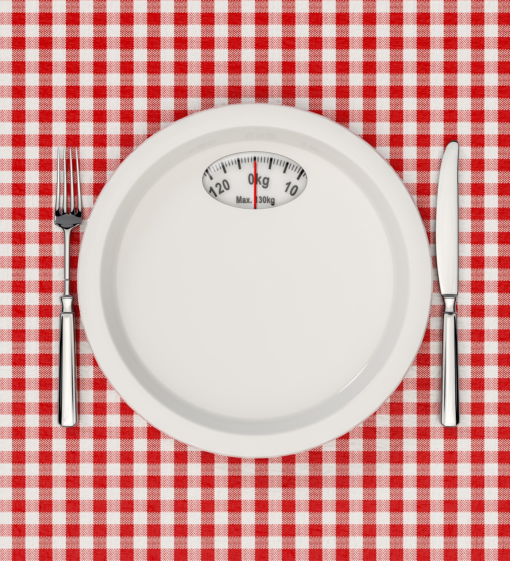 Empty plate that looks like a scale.