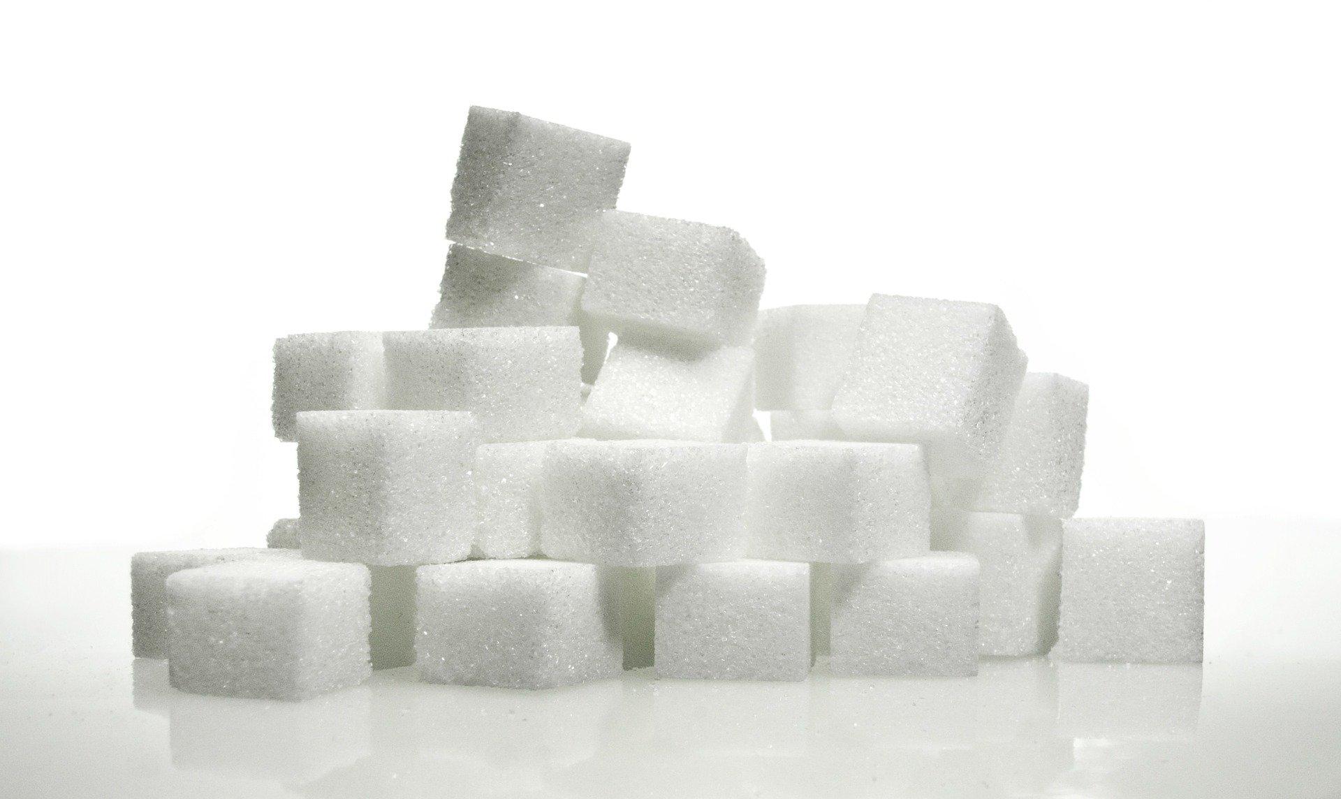 A pile of sugar cubes.