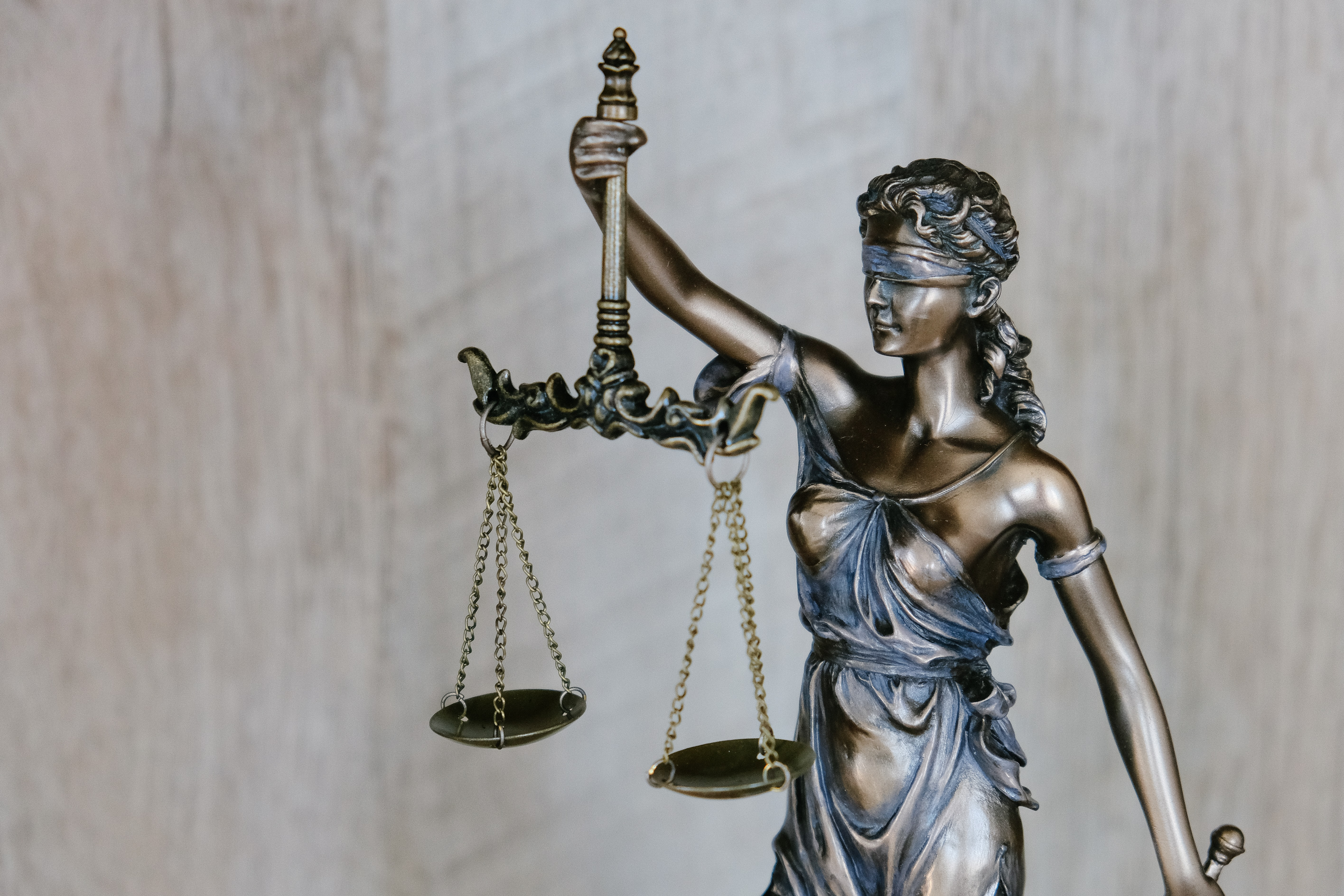 Lady justice stature.