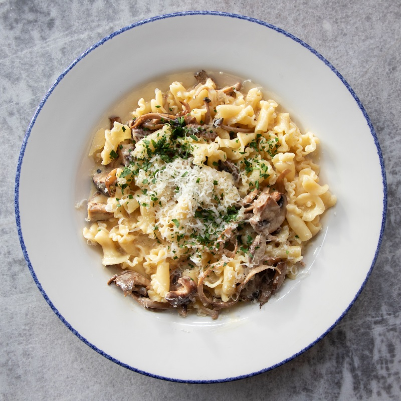 bell pasta, cream & sweet vermouth mushroom sauce ADD Chicken + $5
