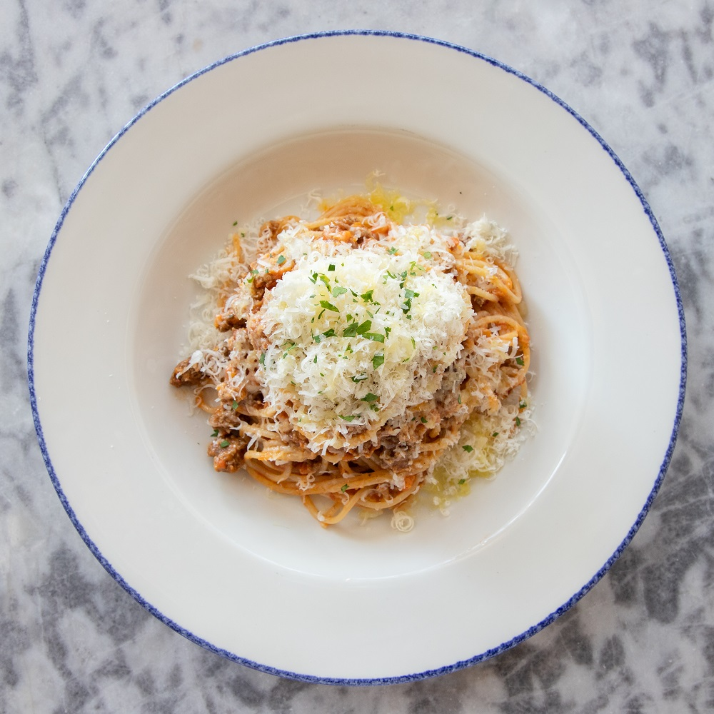 Fresh pasta with all beef bolognese