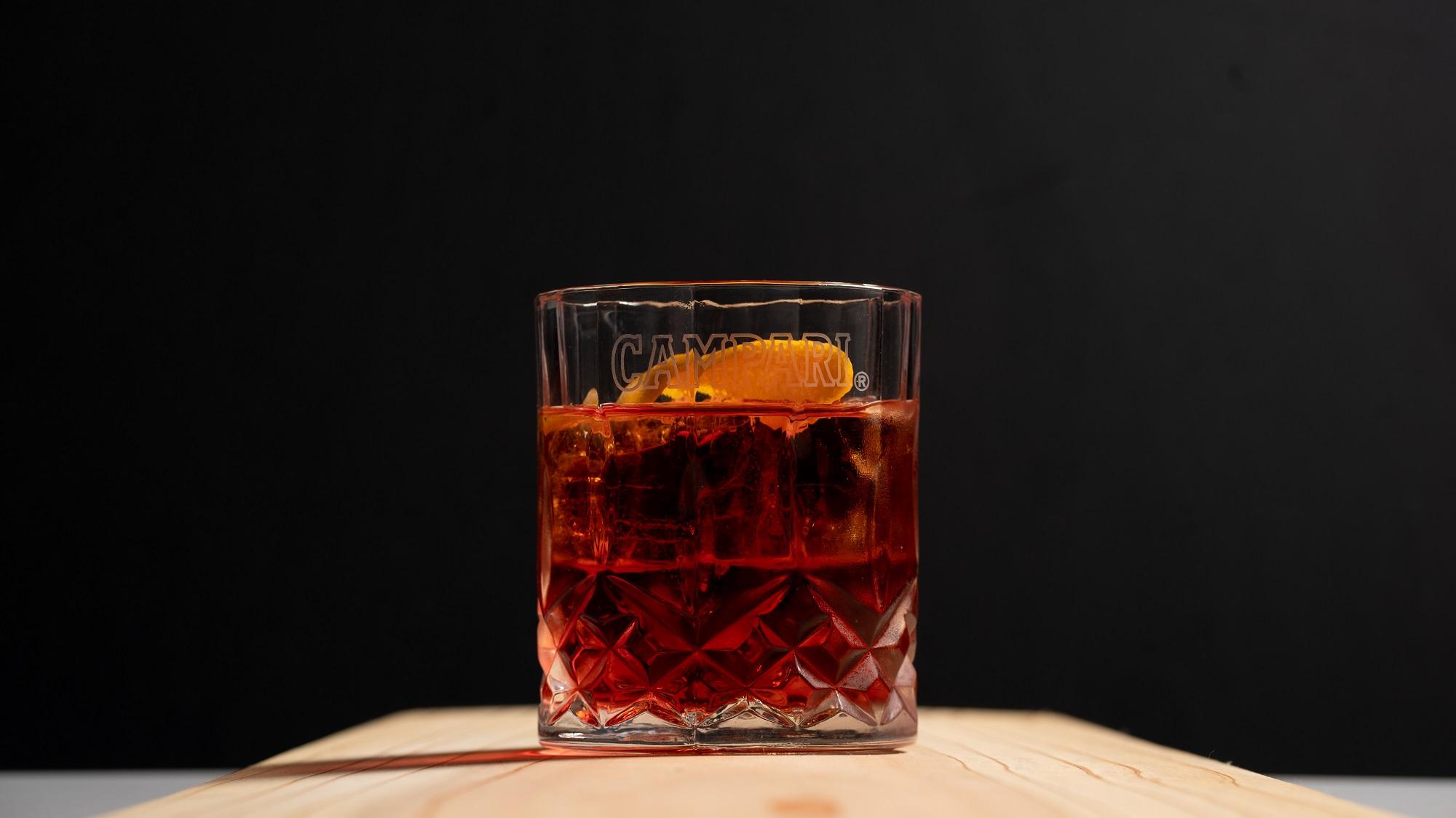 Gin, Campari, Sweet Vermouth